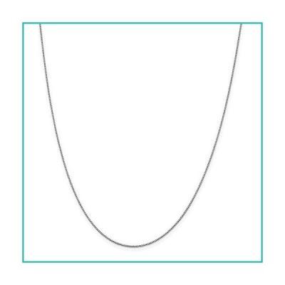 特別価格Solid 18K White Gold 0.70mm Box Chain Necklace - with Secure Lobster Lock C好評販売中