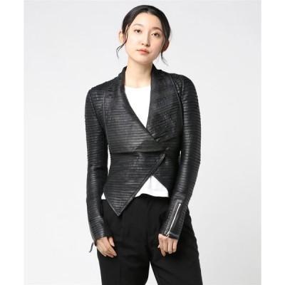 アウター MARCIANO Shayna Drape Leather Jacket
