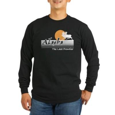 ユニセックス 衣類 トップス CafePress - Alaska Long Sleeve Dark T Shirt - Long Sleeve Dark T-Shirt Tシャツ