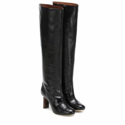 レジーナ ピヨ Rejina Pyo レディース ブーツ シューズ・靴 Allegra leather knee-high boots Leather Black