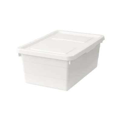 IKEA イケア ふた付きボックス ホワイト 白 38x25x15cm b50316064 SOCKERBIT