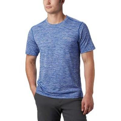 コロンビア メンズ Tシャツ トップス Columbia Men's Deschutes Runner SS Shirt Azul Heather