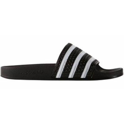 アディダス メンズ スニーカー シューズ adidas Originals Men's Adilette Slides Black/White