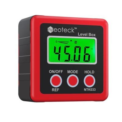 SaleNeoteck デジタルアングルメーター ベベルボックス 4単位 LCD バックライト 18ヶ月保証期間 ?