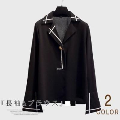 ブラウス 欧米風 スカート シフォン 今夏新作 インスタ映え レディースファッション-P652
