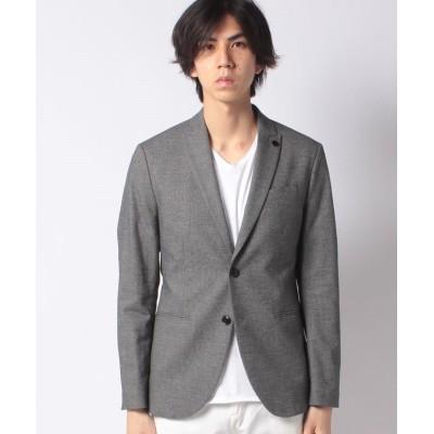 【シスレー】 マイクロパターンシングルジャケット メンズ グレー 46 (国内M相当) SISLEY