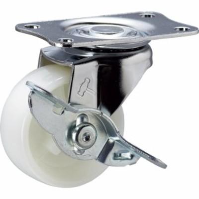 トラスコ中山 tr-3670724 ハンマー Eシリーズ旋回式ナイロン車輪 50mm ストッパー付 (tr3670724)