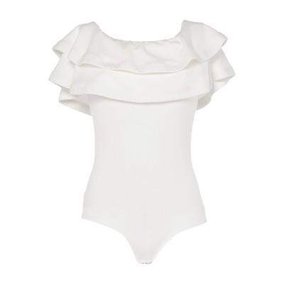 SOALLURE T シャツ ホワイト 42 ポリエステル 95% / ポリウレタン 5% T シャツ