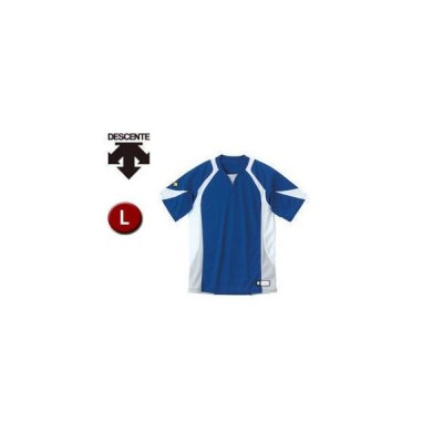 DESCENTE/デサント  DB113-RYWH セカンダリーシャツ 【L】 (ロイヤル×ホワイト×シルバー)