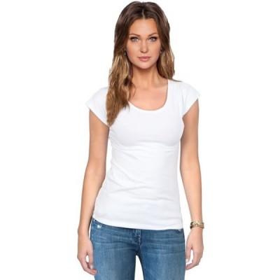 レディース 衣類 トップス Women's Everyday Basic Cotton Short Sleeve Scoop Neck Tee Shirt グラフィックティー