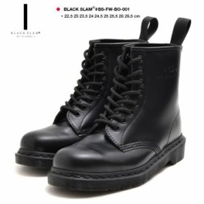 【期間限定特価】クラブノイズ CLUB NO1Z ブラックスラム 8ホール ブーツ メンズ レディース 光沢黒ミリタリー b系 ヒップホップ ストリ