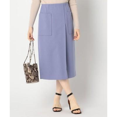 スカート ウールライクポケット付きスカート