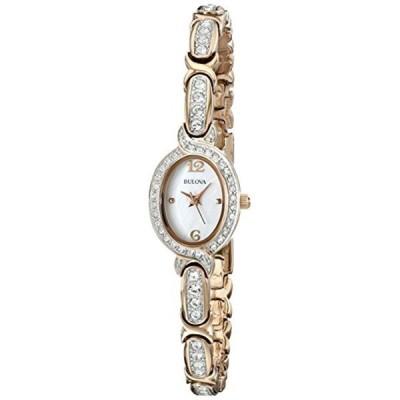 ブローバ Bulova 腕時計 時計 Bulova Women's 98L200 Stainless Steel Swarovski Crystal-Accented Watch