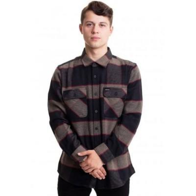 ブリクストン Brixton メンズ シャツ ネルシャツ トップス - Bowery Flannel Heather Grey/Charcoal - Shirt grey