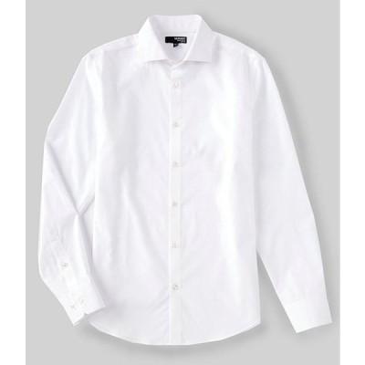 ムラノ メンズ シャツ トップス Liquid Luxury Slim-Fit Solid Jacquard Long-Sleeve Woven Shirt