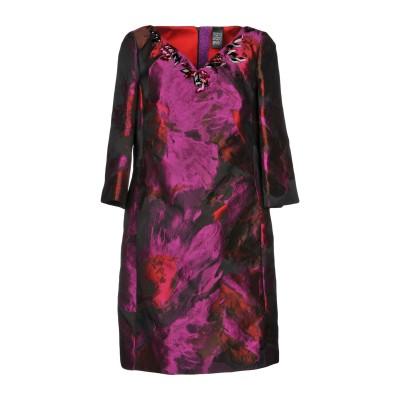 MARIA GRAZIA SEVERI ミニワンピース&ドレス パープル 44 ポリエステル 77% / アセテート 23% ミニワンピース&ドレス