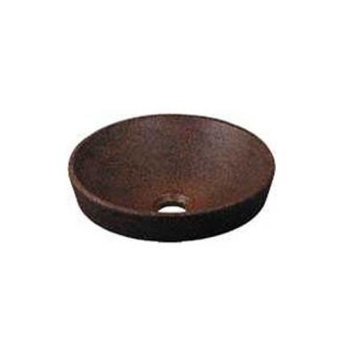 カクダイ KAKUDAI #493-012-M 丸型手洗器//窯肌