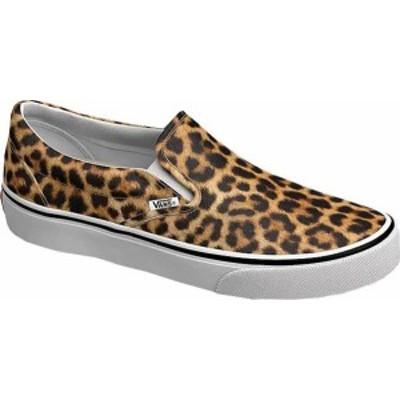 バンズ メンズ スニーカー シューズ Vans Classic Slip-On (Leopard) Black/True White