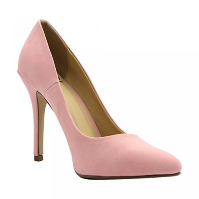 デリシャス レディース パンプス Delicious - Women's Elegant Pointy Toe Pump Heels
