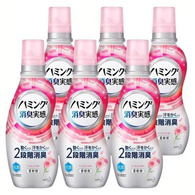 (6個セット)ハミング消臭実感 ローズガーデンの香り 本体 530ml (D)