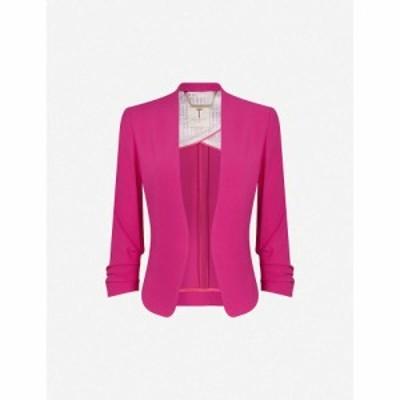 テッドベーカー TED BAKER レディース スーツ・ジャケット アウター Cropped-sleeve crepe jacket BRT-PINK