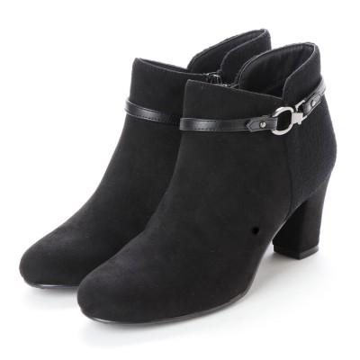 プチペルル Petite Perlr ショートブーツ (ブラック)