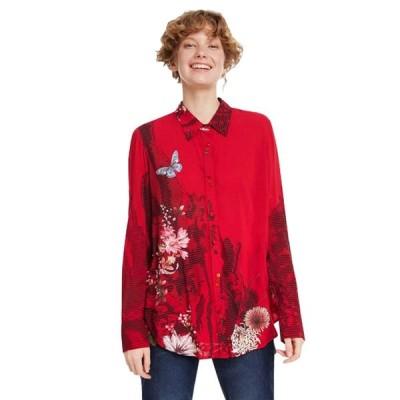 Desigual Women's Fragancy Shirt (Borgona,M)