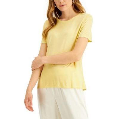 アルファニ カットソー トップス レディース Petite Knit T-Shirt, Created for Macy's Natural Raffia