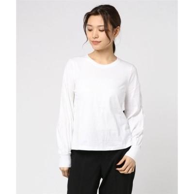 tシャツ Tシャツ クロップド バルーンスリーブtシャツ