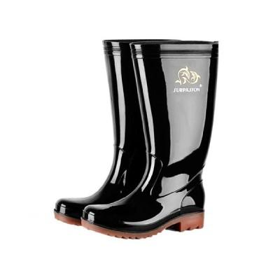 レインブーツ ロングブーツ ウォーターシューズ 防水 耐久性 耐摩耗性 ハイカット アウトドア メンズ 梅雨対策 畑/農作業 滑り止め