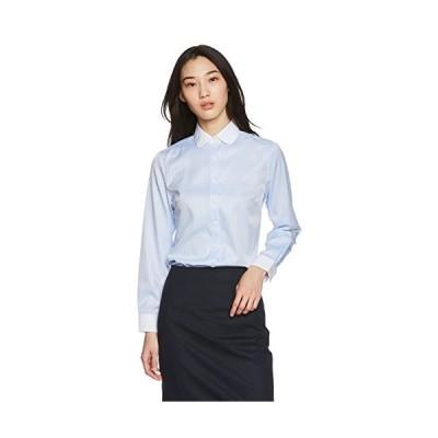 [アトリエサンロクゴ] レディースシャツ 丸襟ワイシャツ ブラウス lr-26 青ドビー 3L (日本サイズ3L相当)