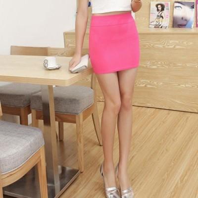 ミニスカートタイトスカート台形スカートショート丈美脚ウエストゴムカラバリ通勤スカートOL
