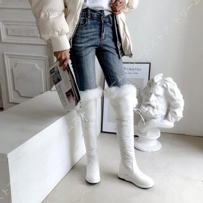 スノーブーツ おしゃれ やわらかい ホワイト 女性用 あったか 滑りにくい 防水 防滑 防寒 ボアブーツ カジュアル 4cmヒール 雪 登山 アウトドア