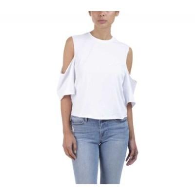 ケンダル&カイリー Kendall & Kylie レディース Tシャツ トップス Cutaway Cold Shoulder Short Sleeve Tee Bright White