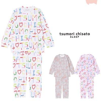ツモリチサト パジャマ 綿 長袖 かぶり ロゴドット ML ブランド かわいい tsumori chisato Pajamas