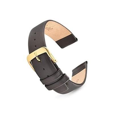 好評販売中Speidel 本革腕時計バンド ブラックとブラウン メンズ クラシック カーフスキン 交換用ストラップ 12mm 20mmステンレススチールメタルバ送料無料