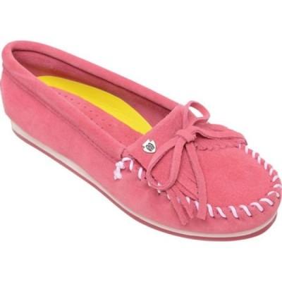 ミネトンカ Minnetonka レディース ローファー・オックスフォード モカシン シューズ・靴 Kilty Plus Moccasin Hot Pink Suede