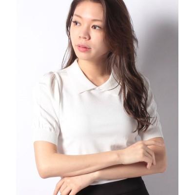 (MISS J/ミス ジェイ)ハノン 襟付きニットプルオーバー/レディース ホワイト