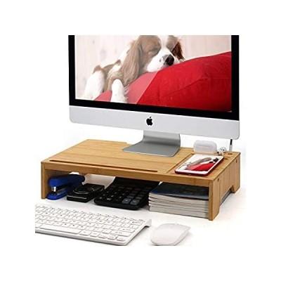 竹製 モニタースタンド ライザー デスクオーガナイザー Pezin & Hulin ホーム&オフィス 木製デスクトップスタンドストレージ コンピュータ