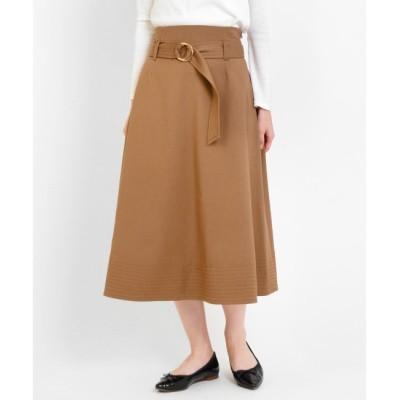 【ニーム/NIMES】 マイクロT/RWクロスベルト付フレアースカート