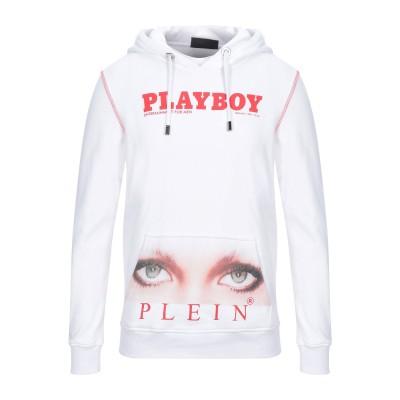 PHILIPP PLEIN x PLAYBOY スウェットシャツ ホワイト M コットン 100% スウェットシャツ