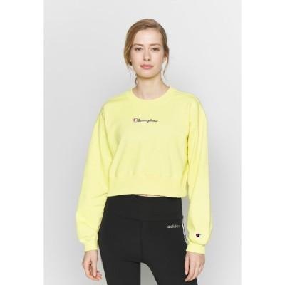 チャンピオン パーカー・スウェットシャツ レディース アウター CREWNECK CROPTOP - Sweatshirt - yellow