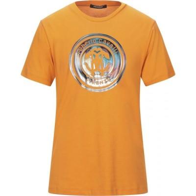 ロベルト カヴァリ ROBERTO CAVALLI メンズ Tシャツ トップス T-Shirt Orange