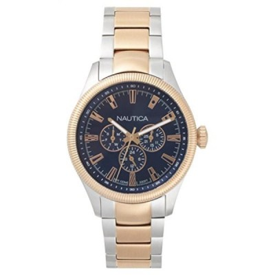 ノーティカ 腕時計 メンズウォッチ Nautica Men's 'STARBOARD' Quartz Stainless Steel Casual Watch, Color:Blue (Model: NAPSTB005)