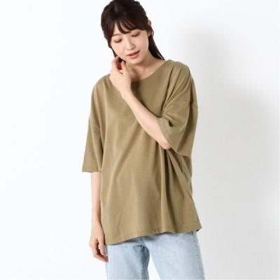 ガーゼグログランワイドTシャツ カーキ M L