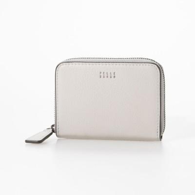 ペレボルサ PELLE BORSA ラウンドミニ財布 (アイスグレー)
