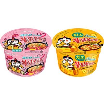 カルボナラブルダック+チーズブルダック炒め麺セット