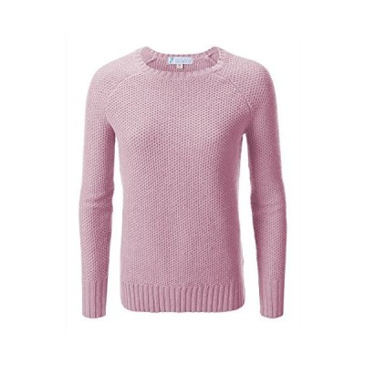 7 Encounter Women's Cable Pullover Sweater (Large, Pink)並行輸入品 送料無料