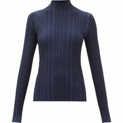 アクネ ストゥディオズ Acne Studios レディース ニット・セーター トップス Katina high-neck ribbed sweater Navy