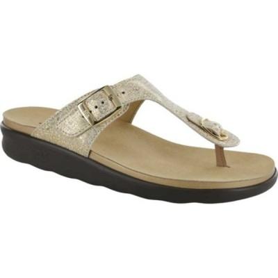 エスエーエス サンダル シューズ レディース Sanibel Sandal (Women's) Shiny Gold Leather
